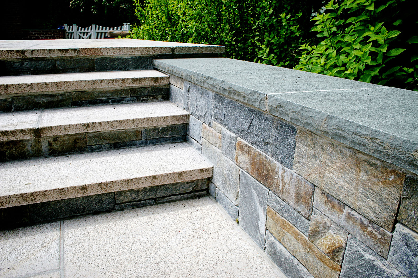Chinese granite stairs in Greenwich, Connecticut