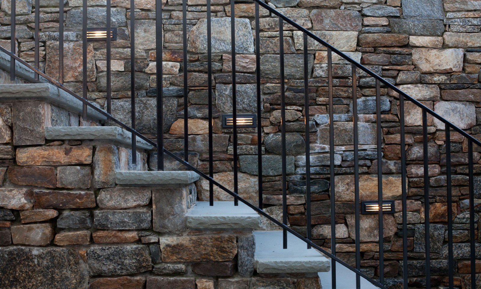 outdoor stone staircase lighting Connecticut