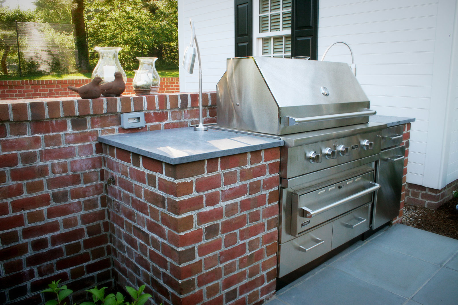 Brick outdoor kitchen design in Connecticut